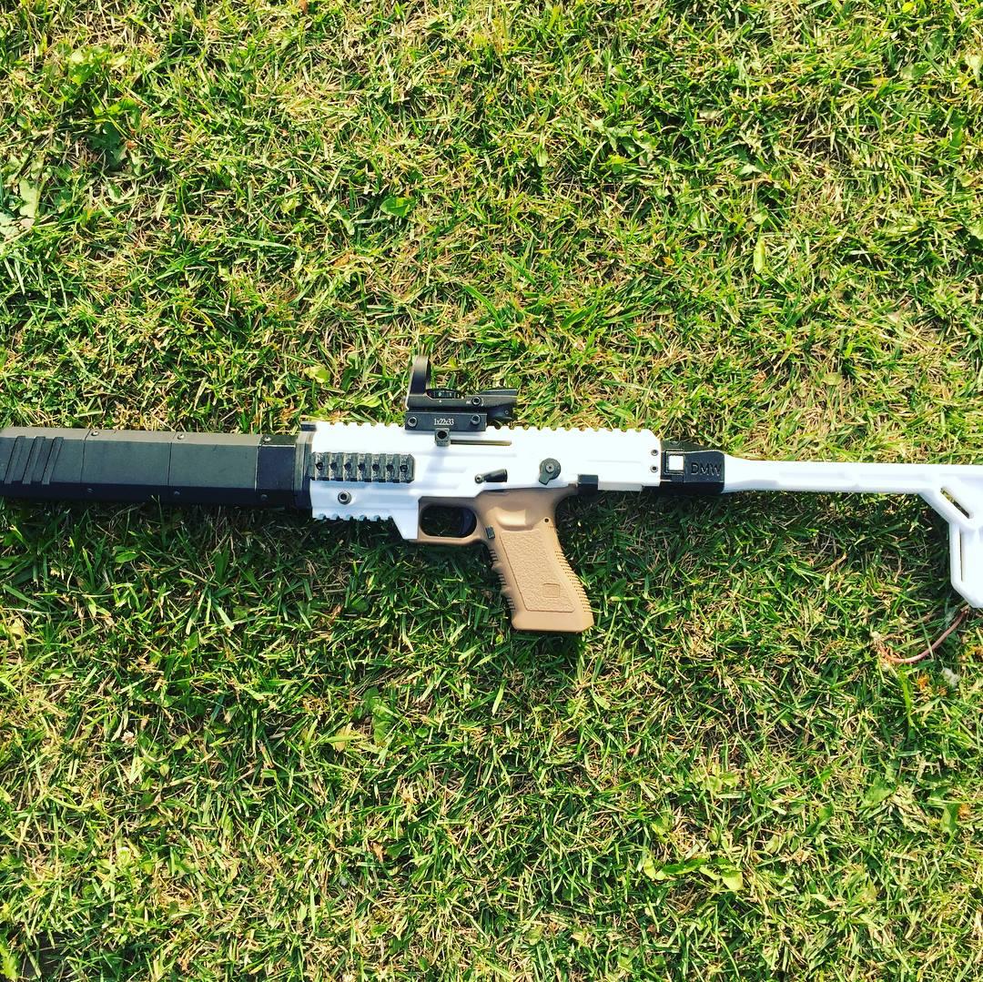 Glock 18/17 GBB/AEP airsoft carbine conversion kit